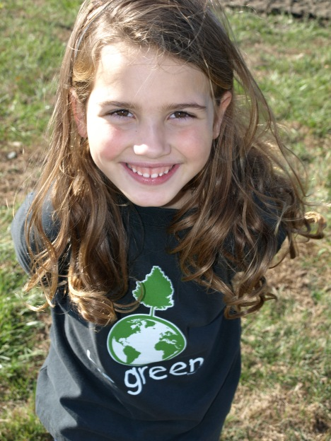 Abby's Go Green all organic t-shirt