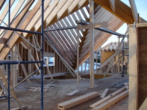Interior second floor framing