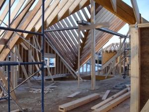 Interior second floor framing