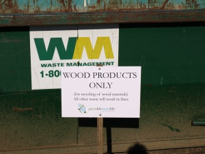 Wood Products Only Bin