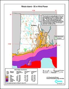 RI Wind Map courtesy Dept of Energy